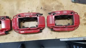 brake caliper paint color for track durability red or black
