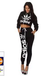 adidas crop top sweater jumpsuit adidas crop tops fashion sweater black