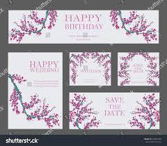 E Card Invitation Vector Set Greeting Card Invitation Templates Stock Vector
