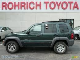 dark green jeep 2003 jeep liberty sport 4x4 in shale green metallic 618281