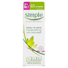 light moisturizer for sensitive skin simple hydrating lotion 125ml at wilko com
