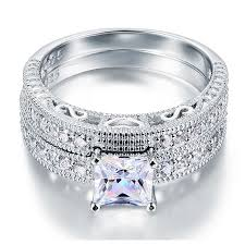 vintage victorian style engagement ring art deco bridal set