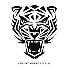 tiger tribal vector at vectorportal