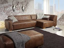 sofa leder braun ledercouch lobby 442 aus braunem leder und im angesagten