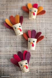 diy cork turkey kids craft lia griffith