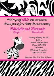 zebra baby shower pink zebra baby shower invitations