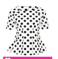 black polka dot blouse shirt polka dots polka dot shirt peplum polka dot blouse