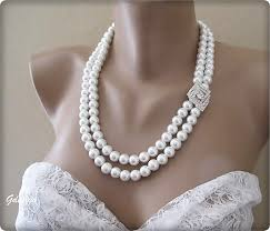 glass pearl necklace images Ivory 2 strands glass pearl necklace chic selections shop jpg