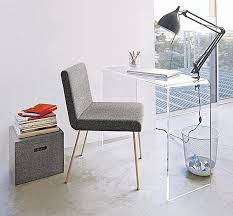clear plastic console table acrylic home office desks for a clearly fabulous work space
