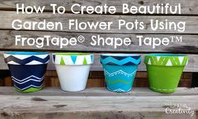 how to create beautiful garden flower pots using frogtape shape
