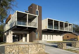 inside dallas home built from shipping containers daily mail online