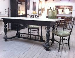 terrazzo ebonised french colonial dining table haunt antiques
