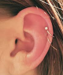 earring top of ear top it 23 delicate and oh so pretty ear piercing ideas
