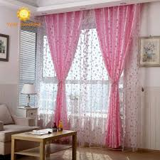 2016 rose modern tulle for windows shade sheer curtains fabric