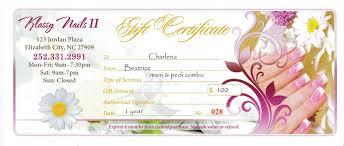 nail salon gift cards nail salon gift certificates at klassy nails ll in elizabeth city nc