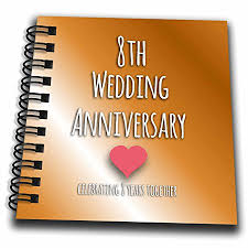 eighth anniversary gift 3drose db 154439 3 8th wedding anniversary gift bronze celebrating 8