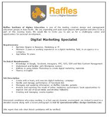 Digital Marketing Specialist Resume Digital Marketing Specialist Job Vacancy In Sri Lanka
