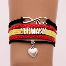 infinity love leather bracelet images Drop shipping unisex infinity love national flag germany bracelet jpg