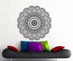 online get cheap indian interior decorating aliexpress com mandala black sticker wall art gym mehndi ornament yoga namaste peace pattern vinyl decal home interior
