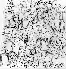 spongebob warmup doodle by shermcohen on deviantart