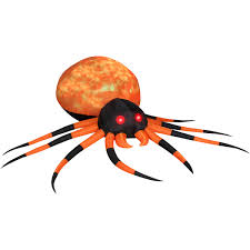 massive inflatable orange fire and ice projection spider the