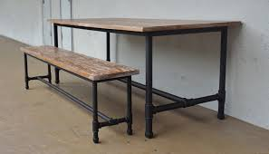 Industrial Bench Industrial Furniture Ii Dining Table Second Charm