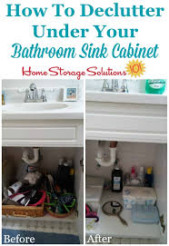 Under Bathroom Sink Cabinet by How To Declutter Under Bathroom Sink Cabinets