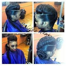 braids hairstlyes for black women with thinning edges i want something like this but with a ponytail instead of a braid