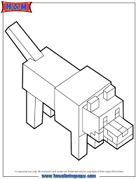 minecraft wolf coloring pages cartoon creative minecraft