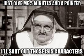 Frowning Meme - frowning nun meme imgflip