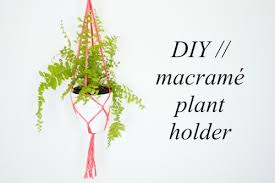 Simple Macrame Plant Hanger - cool and simple diy macrame plant holder shelterness
