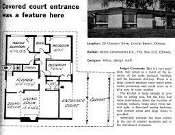 minto homes floor plans mid century modern and 1970s era ottawa january 2011