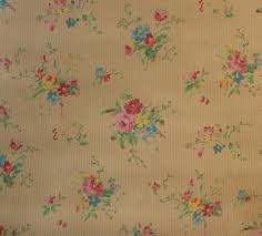 Bedroom Wallpaper Patterns 1930 U0027s Vintage Wallpaper Tiny Pink Roses And Little Blue Flowers