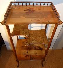 meubles art deco style emile gallé rare petit meuble étagère à portes décor pavots