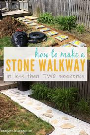 build a stone walkway in just two weekends simple tutorial for