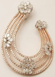 big flower necklace images Buy pear cut diamonds flower big party wear rose gold pendant in jpg