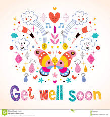 get well soon cards get well soon greeting card stock vector illustration of