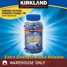 krikland kirkland signature rapid release acetaminophen pm 375 gelcaps