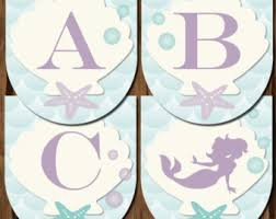 mermaid printables mermaid food tags mermaid