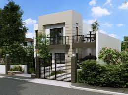 eye catching house with small balcony home design