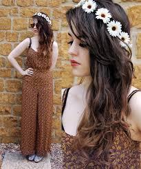 hippie jumpsuit arabella g chain garland topshop floral jumpsuit topshop