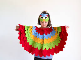 colorful parrot costume bhb kidstyle