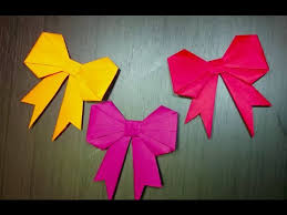 paper ribbon origami papercraft folding paper ribbon or bow