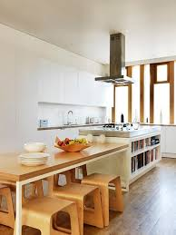kitchen island as dining table the idea of a table connected to an island great look for a