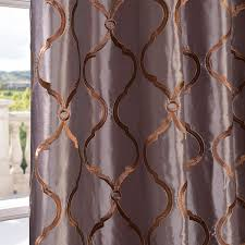 Raw Silk Drapery Panels by Tunisia Smoke Embroidered Faux Silk Curtain U0026 Drapes