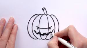 halloween pumpkin cartoons how to draw a cartoon scary pumpkin for halloween youtube