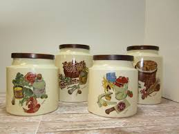 pottery canisters kitchen ceramic canister set hyalyn pottery stoneware glass canisters