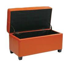 Vinyl Orange Ottoman Wonderful Orange Ottomans Upholstery Ottoman Orange And White