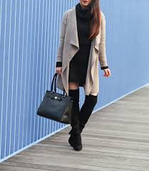 Black Drape Front Cardigan Drapey Cardigan And Sweater Dress Stylish Petite