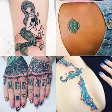 mermaid tattoos popsugar